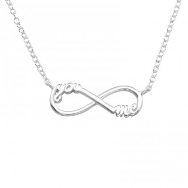 Infinity - 925 Sterling Silver Necklace without stones A4S41012