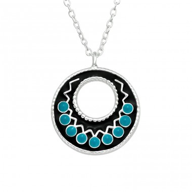 Ethnic - 925 Sterling Silver Necklace without stones A4S41042
