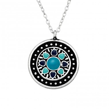 Ethnic - 925 Sterling Silver Necklace without stones A4S41046