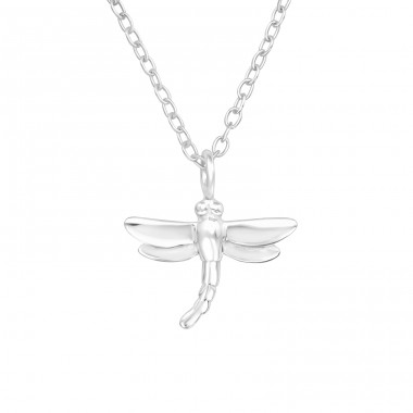 Dragonfly - 925 Sterling Silver Necklace without stones A4S41445