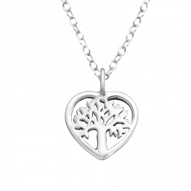 Tree Of Life - 925 Sterling Silver Necklace without stones A4S41571