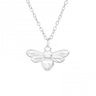 Bee - 925 Sterling Silver Necklace without stones A4S41631