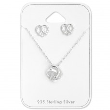 Knot - 925 Sterling Silver Sets Necklace with Earrings A4S28942
