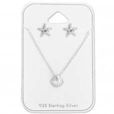 Ocean - 925 Sterling Silver Sets Necklace with Earrings A4S28962