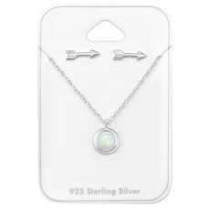 Arrow - 925 Sterling Silver Sets Necklace with Earrings A4S33938