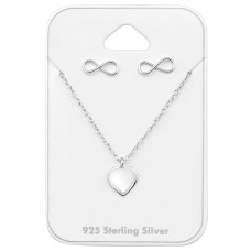 Infinite Love - 925 Sterling Silver Sets Necklace with Earrings A4S33948
