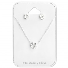 Horseshoe - 925 Sterling Silver Sets Necklace With Earrings A4S28925