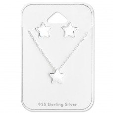 Star - 925 Sterling Silver Sets Necklace with Earrings A4S28930