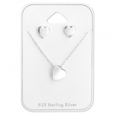 Heart - 925 Sterling Silver Sets Necklace with Earrings A4S28944