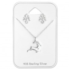 Christmas - 925 Sterling Silver Sets Necklace with Earrings A4S28959
