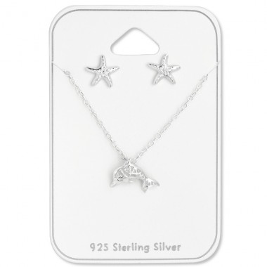 Ocean - 925 Sterling Silver Sets Necklace with Earrings A4S28963