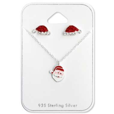 Christmas - 925 Sterling Silver Sets Necklace with Earrings A4S28986