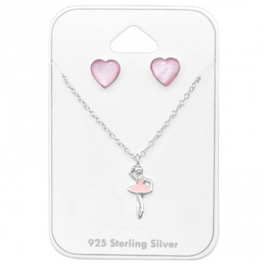 Balet dancer - 925 Sterling Silver Sets Necklace With Earrings A4S33937