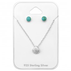 Seaside - 925 Sterling Silver Sets Necklace with Earrings A4S33942
