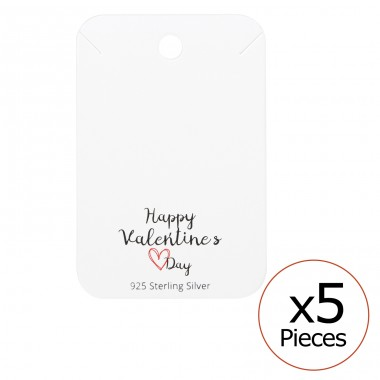 Happy Valentines Day Necklaces Cards - Paper Sets Necklace with Earrings A4S35836