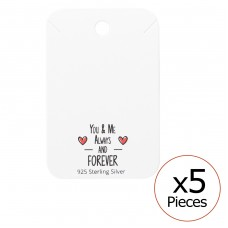 You & Me Forever Necklaces Cards - Paper Sets Necklace with Earrings A4S35837