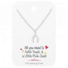 Heart Necklace On Simplicity Card - 925 Sterling Silver Sets Necklace with Earrings A4S35913