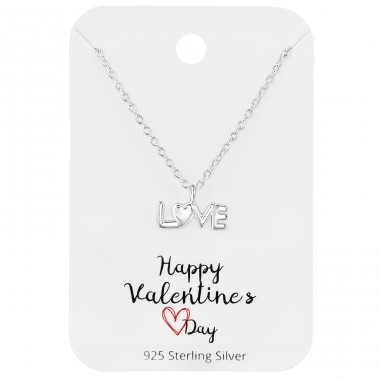 Love - 925 Sterling Silver Sets Necklace with Earrings A4S39801