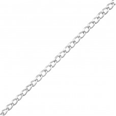 45 cm Curb - 925 Sterling Silver Silver Chains A4S21814
