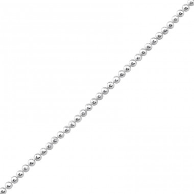 41 cm Diamond Cut Ball - 925 Sterling Silver Silver Chains A4S23886