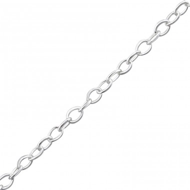 46 cm Cable - 925 Sterling Silver Silver Chains A4S23893