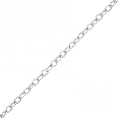 43 cm Cable - 925 Sterling Silver Silver Chains A4S33428
