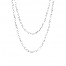 45 cm Layering - 925 Sterling Silver Silver Chains A4S35077
