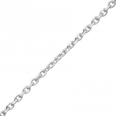 41 cm Diamond Cut Cable - 925 Sterling Silver Silver Chains A4S35146