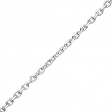 42cm Silver Diamond Cut Cable Chain - 925 Sterling Silver Silver chains A4S37608