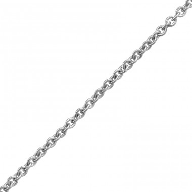45cm Silver Cable Chain With 7cm Extension Included - 925 Sterling Silver Silver chains A4S38133