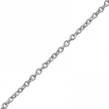 45cm Silver Cable Chain With 7cm Extension Included - 925 Sterling Silver Silver chains A4S38134