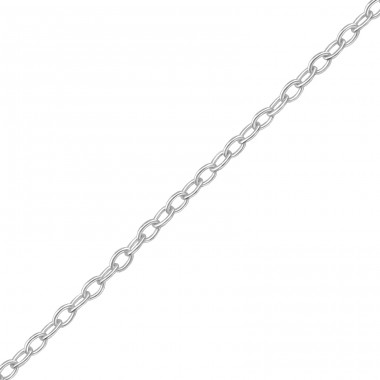 45cm Silver Cable Chain With 3cm Extension Included - 925 Sterling Silver Silver chains A4S39117