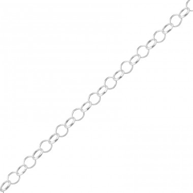 Round Link Chain - 925 Sterling Silver Silver chains A4S39558