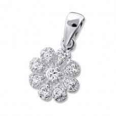 Flower - 925 Sterling Silver Pendants with Zirconia stones A4S16724