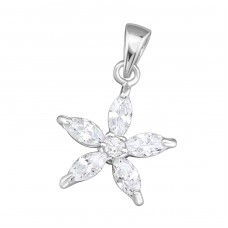 Star - 925 Sterling Silver Pendants with Zirconia stones A4S11289