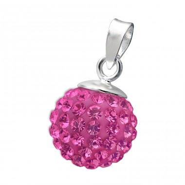 Ball - 925 Sterling Silver Pendants with Zirconia stones A4S13235