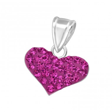 Heart - 925 Sterling Silver Pendants with Zirconia stones A4S13337