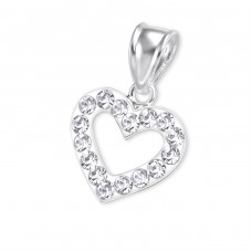 Heart - 925 Sterling Silver Pendants with Zirconia stones A4S13631