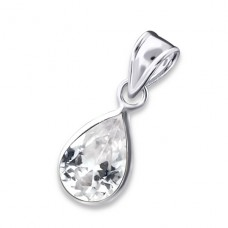 Teardrop - 925 Sterling Silver Pendants with Zirconia stones A4S1401