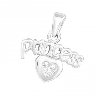 Princess - 925 Sterling Silver Pendants with Zirconia stones A4S14628