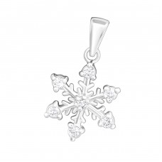 Snowflake - 925 Sterling Silver Pendants with Zirconia stones A4S14629