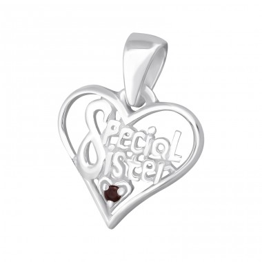 Special Sister - 925 Sterling Silver Pendants with Zirconia stones A4S14927