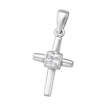 Cross - 925 Sterling Silver Pendants with Zirconia stones A4S15174