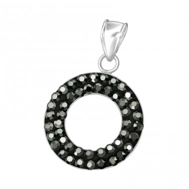 Circle - 925 Sterling Silver Pendants with Zirconia stones A4S15250
