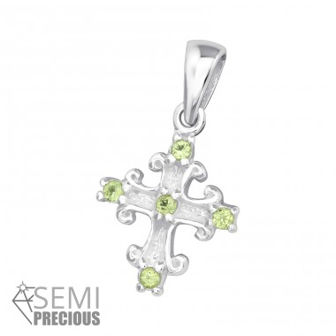 Cross - 925 Sterling Silver Pendants with Zirconia stones A4S15596