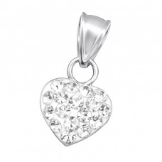 Heart - 925 Sterling Silver Pendants with Zirconia stones A4S15754