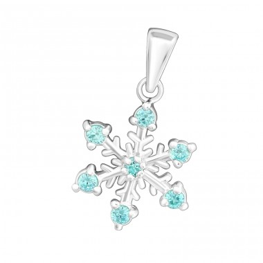Snowflake - 925 Sterling Silver Pendants with Zirconia stones A4S15833