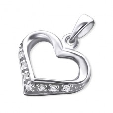Heart - 925 Sterling Silver Pendants with Zirconia stones A4S15881