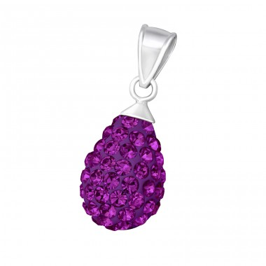 Pear - 925 Sterling Silver Pendants with Zirconia stones A4S15996