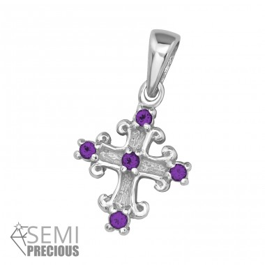 Cross - 925 Sterling Silver Pendants with Zirconia stones A4S16121